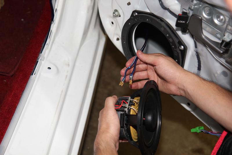 Installing new speaker wiring