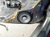"""Aftermarket speaker and speaker adapter  from  <a href=""""http://www.car-speaker-adapters.com/items.php?id=SAK033""""> Car-Speaker-Adapters.com</a>   installed on door"""