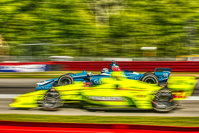 2019 Honda Indy 200 at Mid-Ohio Sportscar Course - Max Chilton in the Chevrolet powered #59 - Carlin AND Simon Pagenaud in the Chevrolet powered #22 - Team Penske