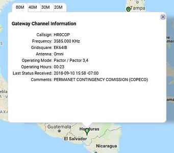 Honduran Gateway HR0COP activated - Mike Burton