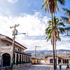 Street by Parque Central in Copan Ruinas, Honduras.