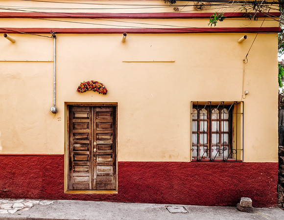 Building in Copan Ruinas, Honduras.