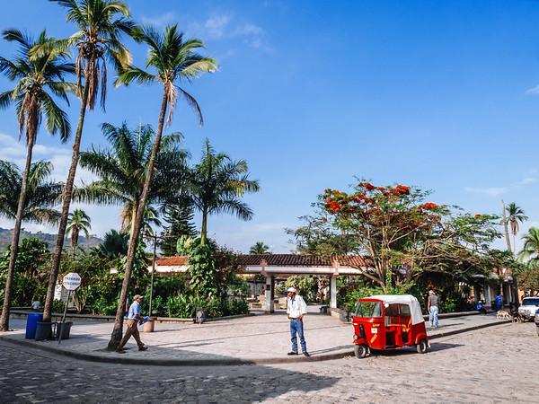 Parque Central in Copan Ruinas, Honduras.