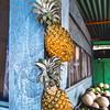 Pineapples at a fruit stand in Copan Ruinas, Honduras.