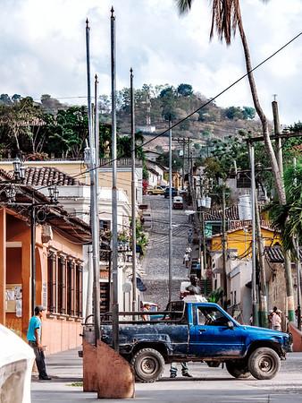 Street in Copan Ruinas, Honduras.