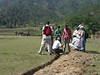 The group checking the trench in El Tecuan. (2006)