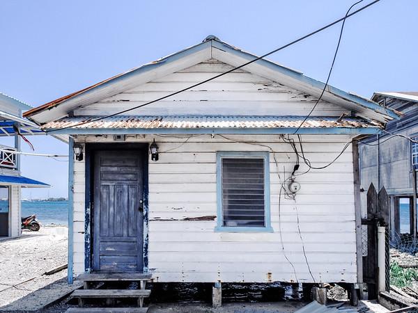 House on Utila Island in Honduras.