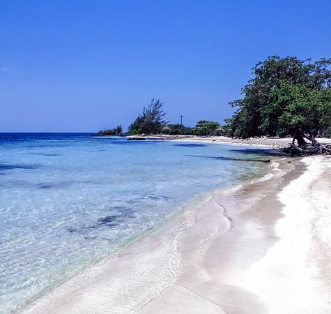 Beach on Utila Island in Honduras.