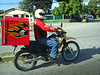 Wow, even stepped it up and they have pizza delivery!! Via motorcycle of coarse, with drivers wearing, what? Helmets!!!