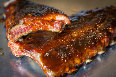 Honey Bourbon Glazed Ribs