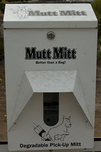Mutt Mitt We saw these dotted all over the show.  A very good idea, especially for those who fogot to bring along their own pooper scooper.