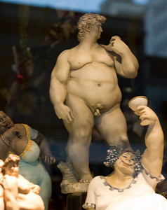 Fat David  Quite appropriate I spotted this in a shop window in the US.