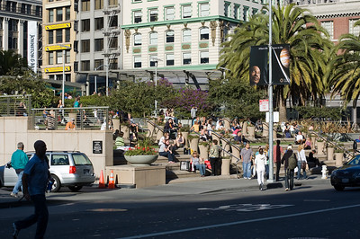 Union Square  The place to be seen sunning yourself in San Francisco