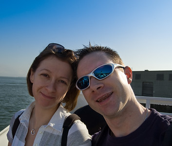 Claire and Me  A self portrait of Claire and me on the ferry on our way across to Alcatraz