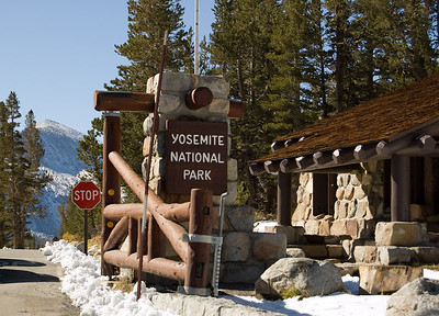 Yosemite Gate At Tioga Pass  The entrance to Yosemite National Park right at the tip top of Tioga Pass at the dizzy height of 9945 feet (3031m) above sea level.