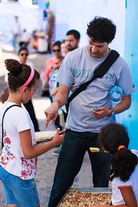 Chefchaouen - Farouk's first or second street food purchase