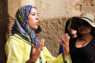 Farida was our guide through the labyrinth of a medina in Fes