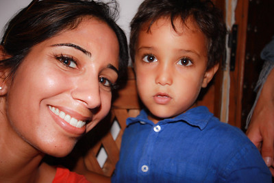 Me (and my lash extensions) with Nadeem. He's one of four Moroccan children adopted by the couple that own Riad Laaroussa