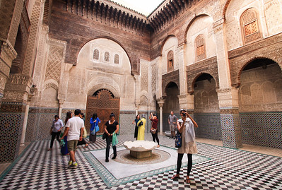 At the Madrasa in Fes. Oldest university in the world