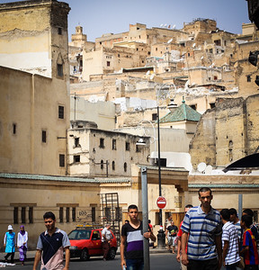 Fes - standing on what used to be the river that divided the medina