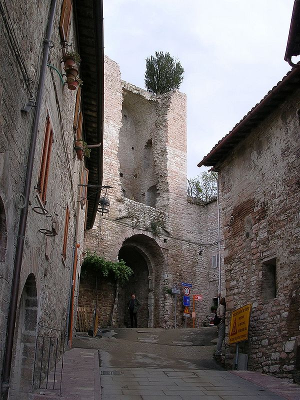 Assisi town streets.