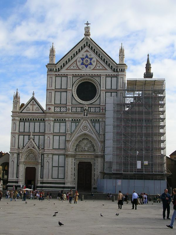The Basilica di Santa Croce (Basilica of the Holy Cross) is the principal Franciscan church of Florence, Italy, and a minor basilica of the Roman Catholic Church. It is situated on the Piazza Santa Croce, to the east of the Duomo.