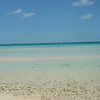 Ten Bay (Caribbean side), stays very shallow for a looooooong ways out.