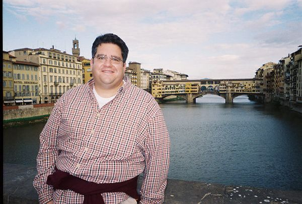 Bill with Ponte Vecchio in the background.
