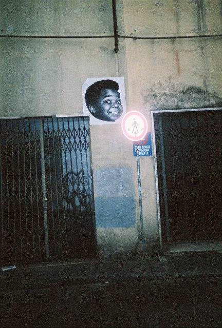 What'ch You Talking about Willis?!  Yep, Gary Coleman plastered on a wall in Florence.  We have yet to figure this one out!