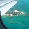 Flying into Nassau, on the way there.