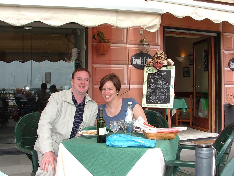 Lunch in Santa Margherita, Italy