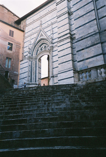Steps to the Duomo.  Be careful they can be slippery!