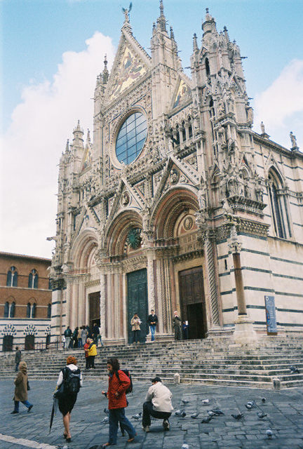The incredible Duomo.  A few minutes' walk west of Piazza del Campo, Siena's Duomo is beyond question one of the finest Gothic cathedrals in Italy.