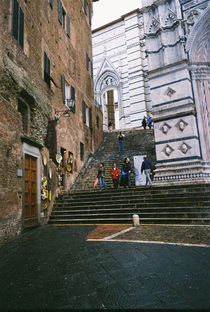 """Steps leading to the Duomo.  By the way, """"Duomo"""" means Cathedral in Italian.  So most large cities have a Duomo."""