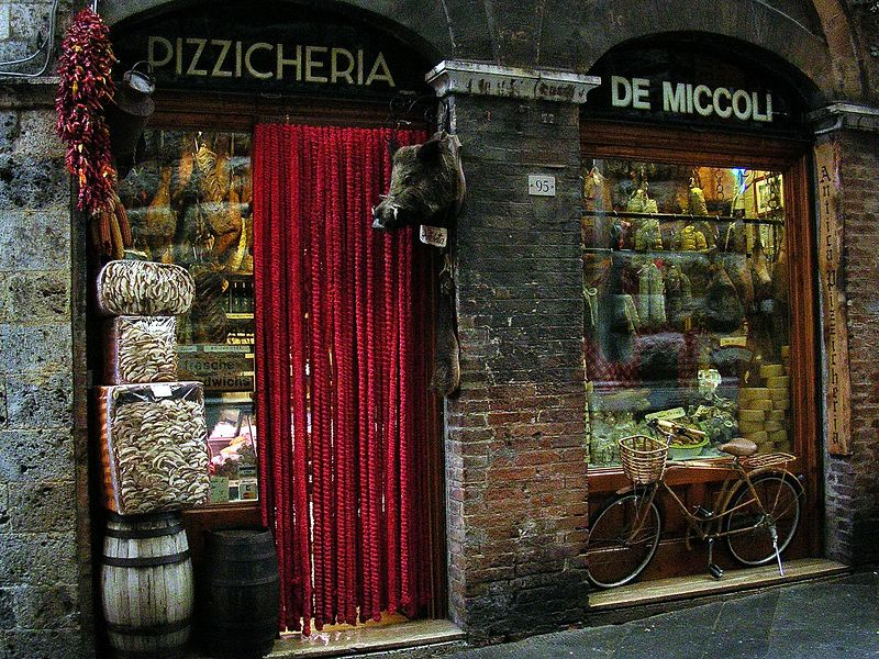 One of the wonderful shops in Siena.
