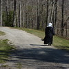 It was a beautiful day ... praying made the mile go by fast! Sr. Margaret Joseph zips along... thankful that she can walk!