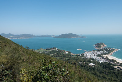 View of Shek O Village from Dragon's Back