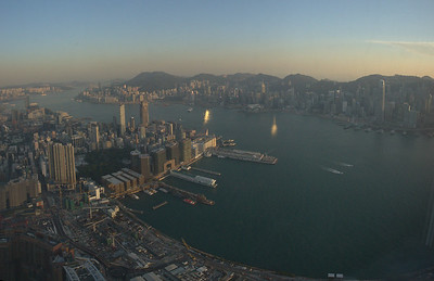 Kowloon and Hong Kong Island from the Ritz
