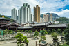 The Chi Lin Nunnery, a Buddhist Temple complex in Kowloon, Hong Kong, China, Asia.
