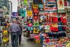 Street market and shops in Mong Kok, Kowloon, Hong Kong, China, Asia.
