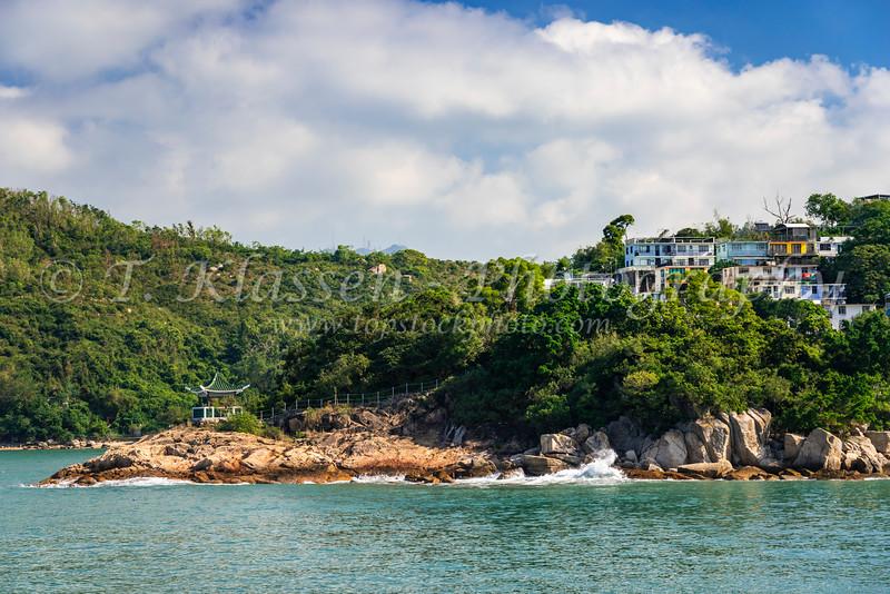 The small fishing village of  Yung Shue Wan on Lamma Island, Hong Kong, China, Asia.