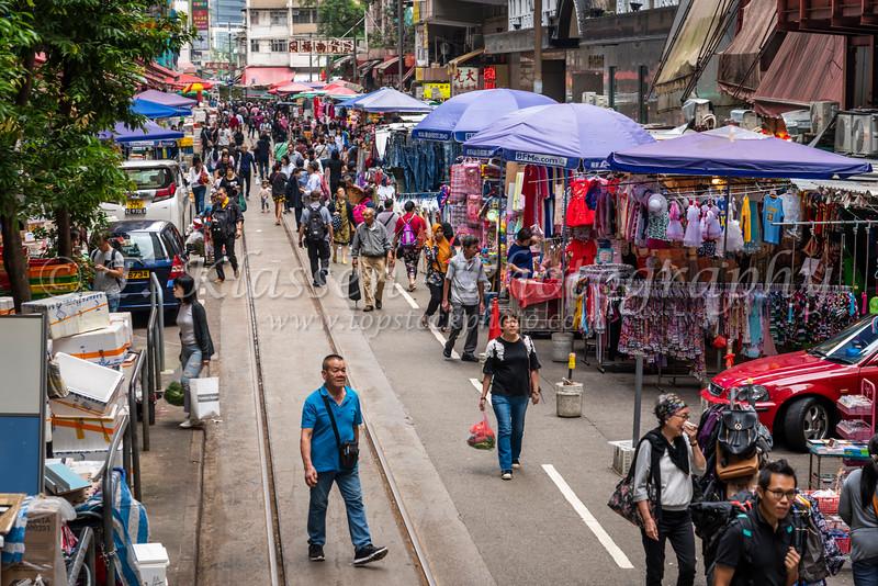 The North Point Chun Yeung street wet market in Hong Kong, China, Asia.