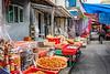 Street shops in the fishing village of Tai O on Lantau Island, Hong Kong, China, Asia.