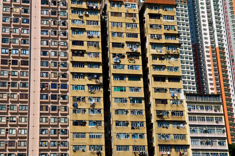 Concentration d'immeubles à Aberdeen. Hong Kong/Chine