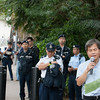 Dozens from the Hong Kong Police Force help maintaining order during the demonstration.