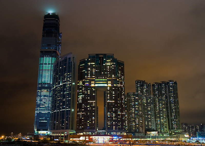The International Commerce Center and Union Square development project in Kowloon.