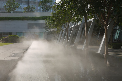The IFC Roof mist machine. Cooling or just adding to the humidity?