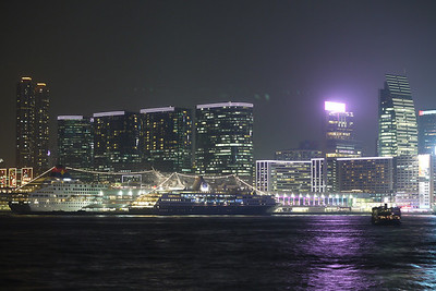 Cruise Ships at TST from HK side.