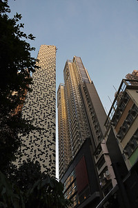 Office and residential towers in Hollywood Road, HK.