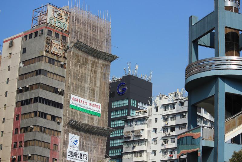 Bamboo Scaffolding at its best, Kowloon, Hong Kong